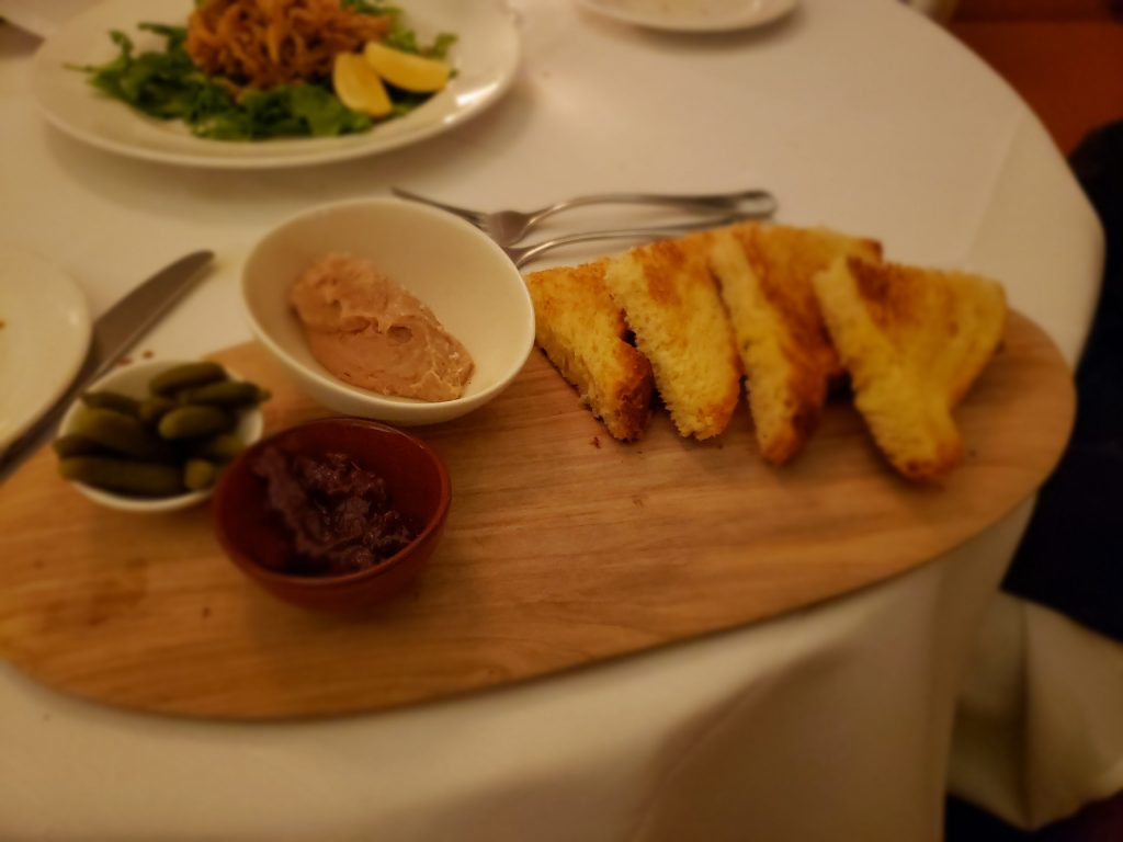 Duck and chicken liver parfait