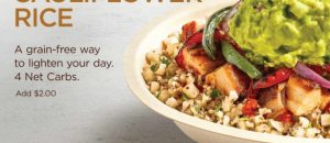 Chipotle Will Test Cauliflower Rice as Demand for Fewer Carbs Grows